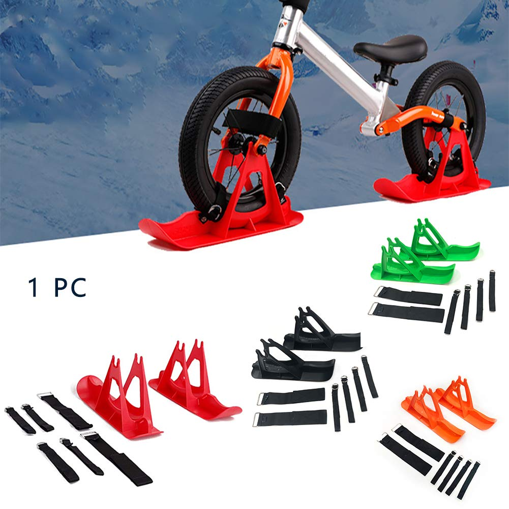 No Pedal Training Bicycle Skiing Walker for Kids and Toddlers Snow Sledge Board Set for 12 inch Balance Bike Scooter Parts