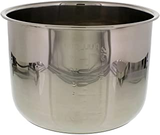 Cheftor 6 Quart Stainless Steel Removable Electric Pressure Cooker Cooking Pot Insert