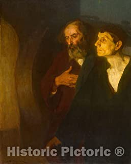 Historic Pictoric Print : The Two Disciples at The Tomb, Henry Ossawa Tanner, c 1977, Vintage Wall Decor : 36in x 48in