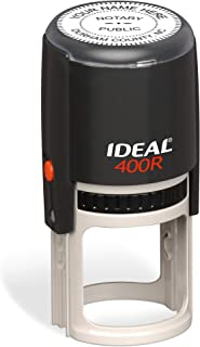 Round Notary Stamp for State of North Carolina | Self Inking Unit - Trodat Manufactured Ideal 400r with Advanced Durability