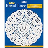 Royal Consumer Medallion Lace Round Paper Doilies, 8-Inch, Pack of 20 (B23004), White