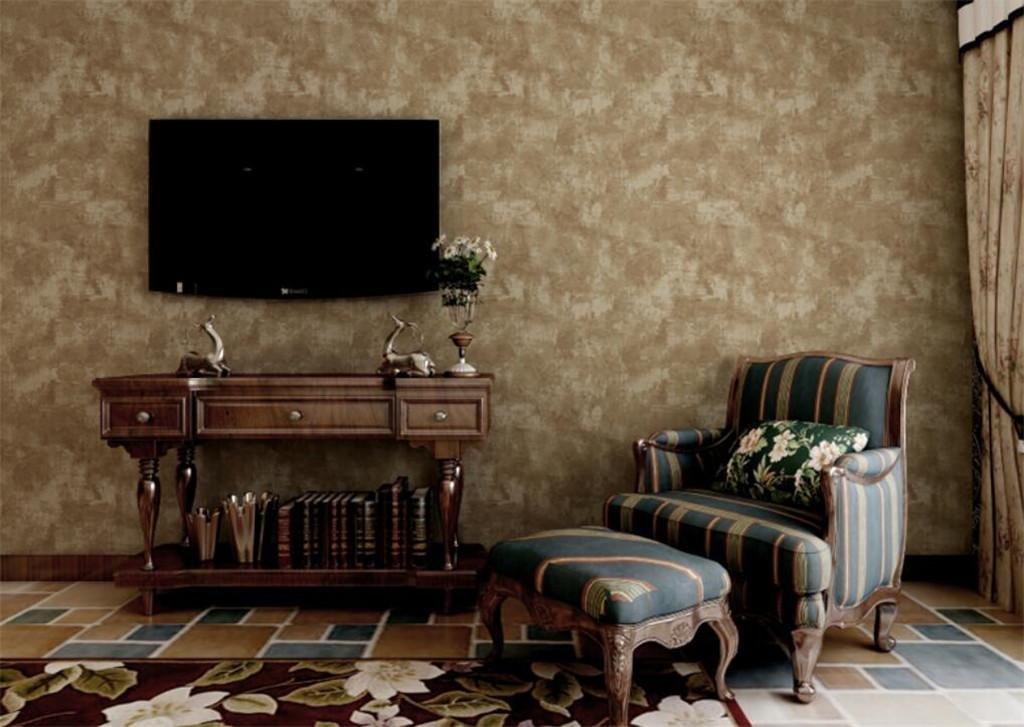 ZHUANBIZI Papel Pintado/Hacer Viejo Vintage/Papel Tapiz no Tejido/Dormitorio, cabecera, Sala TV Pared, 0.53 * 10m, Brown: Amazon.es: Hogar