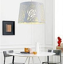 ZBHW Modern Pendant Light, Openwork Wood Iron Chandelier, Indoor Ceiling Light for Bedroom Living Room Dining Decoration