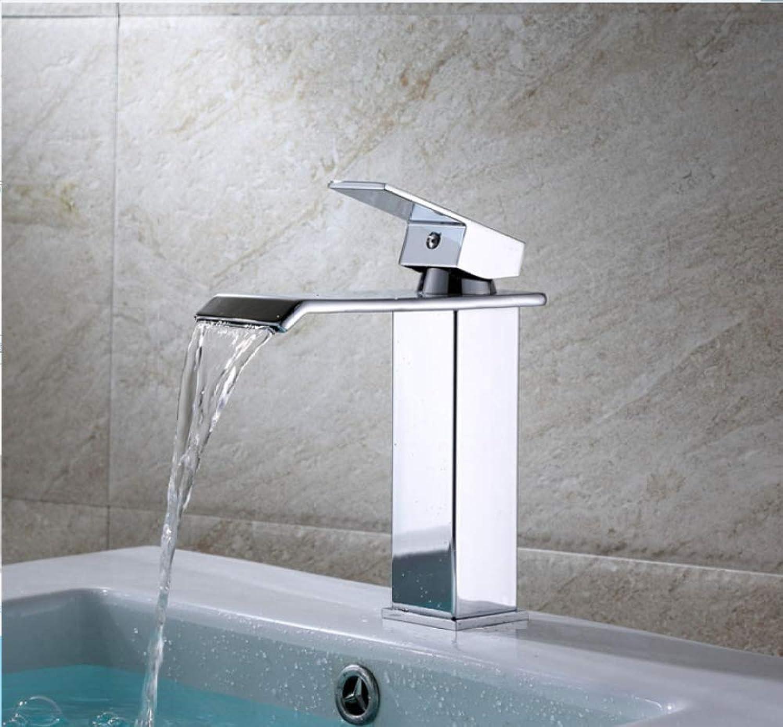 ZHAOSHOP Wasserhahn Kupferkrper Wasserfall Wasserhahn Becken heies und kaltes Wasser Wasserhahn flachen Mund Wasserfall Wasserhahn