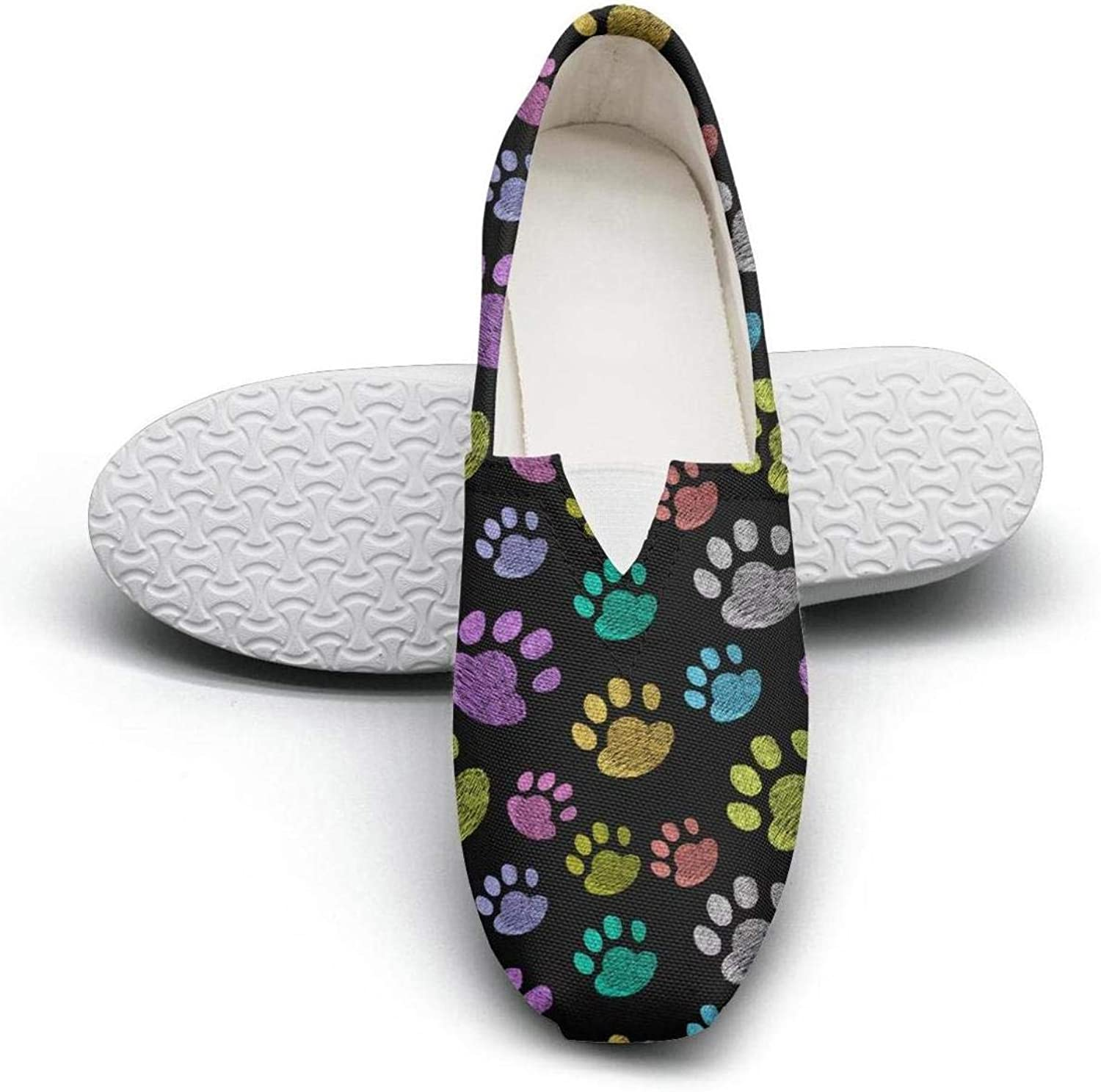 Puppies dog pattern with pet cute dogs Fairytale Princess Women's Extra Light Flat Walking Sneakers Ladies Loafer shoes