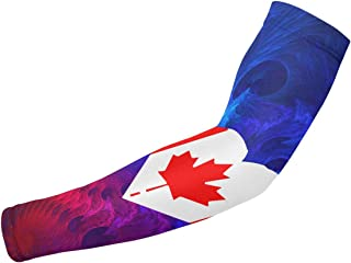 ARMYE269 Canadian Flag Canada Maple Leaf Youth & Adult UV Protection Sleeves