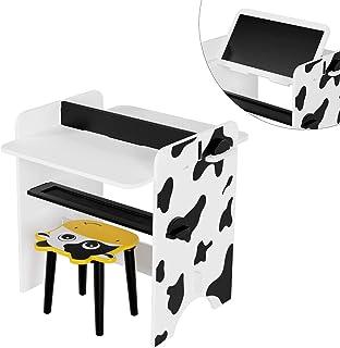 HOMECHO Table Enfant Multifonction Table à Dessin Ensemble Bureau et Chaise pour Apprendre Lire Dessiner Amuser Bureau et ...