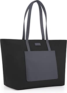 CHICECO 2019 New Tote Bag with Large Slip Pocket - Black/Grey