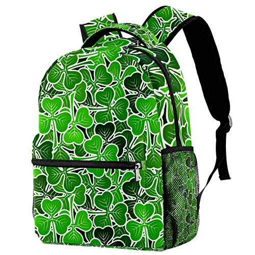 Mochila escolar de 16 pulgadas para estudiantes, bolsa de viaje, básica, para portátil, diseño de plantas pictogramas