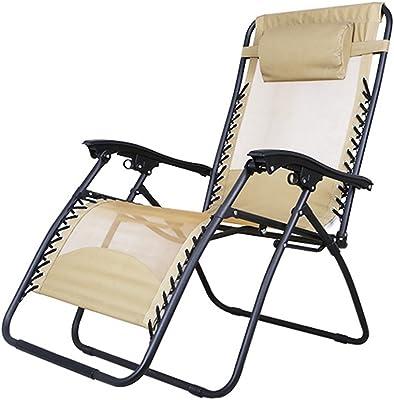 H Folding Recliner Office Summer Siesta Chair Beach Home Backrest Lounge Chair