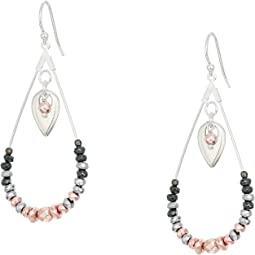 Hematine Drop Earrings