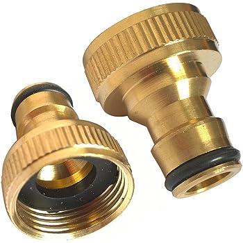 "Laiton Tuyau Connecteur robinet 3//4/"" Fileté D/'eau Jardin Tuyau Adaptateur Raccord US"