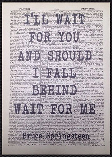 Parksmoonprints Kunstdruck Bruce Springsteen If I Should Fall Behind Songtext Vintage Wörterbuch Druck Wandkunst Witzig Home Decor Love Romance Hochzeit First Dance Anniversary