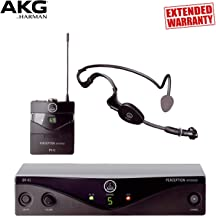 AKG Perception Wireless Sports Set for Aerobics and Hands-Free Speech Applications with 1-Year Extended Warranty