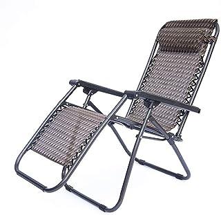 CZX Tumbonas reclinables en Negro | Sillas reclinables Plegables para jardín y Patio | Diseño Resistente con Bandeja porta...