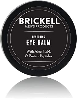 Brickell Men?s Restoring Eye Cream for Men, Natural & Organic anti aging Eye Balm To Reduce Puffiness, Wrinkles, Dark Circ...