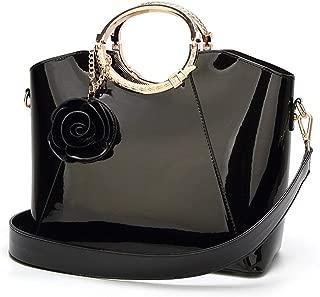 Fine Bag/Fashion Women's Handbag PU Wild Shoulder Bag Large Capacity Ladies Crossbody Bag Work Dating (Color : Black, Size : 30 * 13 * 24cm)
