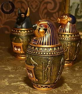 Uterstyle Egyptian Canopic Jar/Eagle Head Canopic Ja/Ancient Egyptian Storage jar Ornaments Statues