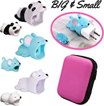 Animal Buddies Phone Cord Bites - Cable Protector for iPhone - Cute Animals Protects Cell Phone Accessories & Bites Data Line - Bite Cord Phone Accessory (w/Pouch) (Mouse)