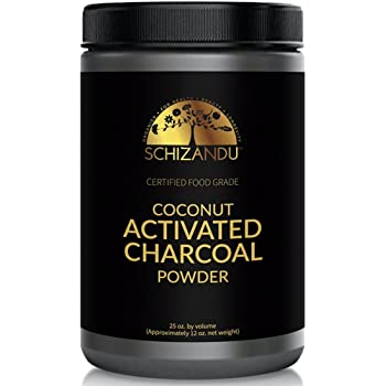 Schizandu Organics Activated Coconut Charcoal Powder, Vegan 100% Pure Detox | Use for Skin & Body Detoxification, Teeth Whitening, Digestive Health, Hangover Prevention