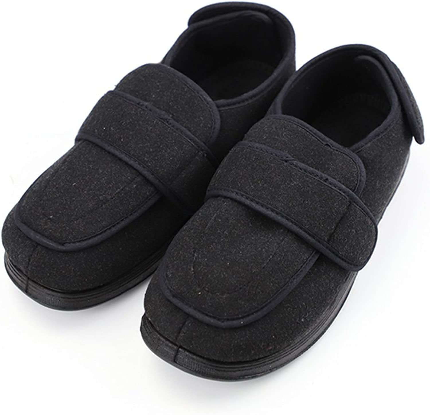Orthoshoes Men's Extra Wide Slippers (7 UK) with Adjustable Closures Diabetic & Edema Arthritis Nonslip Footwear shoes