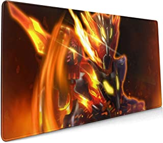 Kamen Rider Cross-Z Magma - Volcanic Dragon Z Mouse Pad 15.8x35.5 in Large Gaming Mouse Pad Desk Mat Long Non-Slip Rubber Stitched Edges