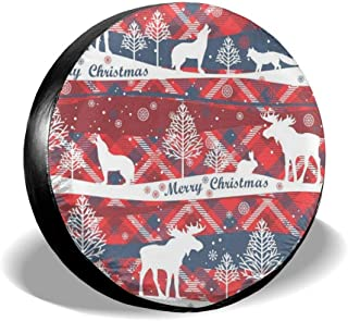 Loveful Personalized Spare Tire Cover Merry Christmas Glass Ball with Lighthouse Waterproof Dust-Proof Wheel Covers for Car/Trailer/RV/SUV/Truck/Boat/Motorhome