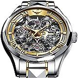 Relojes mecánicos automáticos de la marca suiza para los hombres 5ATM impermeable tungsteno acero inoxidable cuerda automática hombres relojes Movimiento japonés hombres relojes, Esfera de oro blanco,