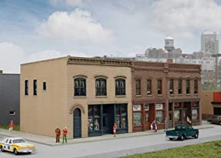 Walthers Cornerstone N Scale Building/Structure Kit Merchant's Row III Downtown