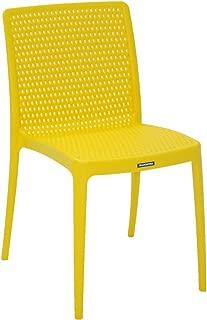 Cadeira Plastica Sem Braço Isabelle Amarela - Tramontina