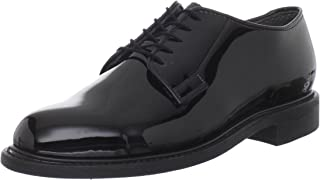 Men's High Gloss Leather Sole Work Shoe