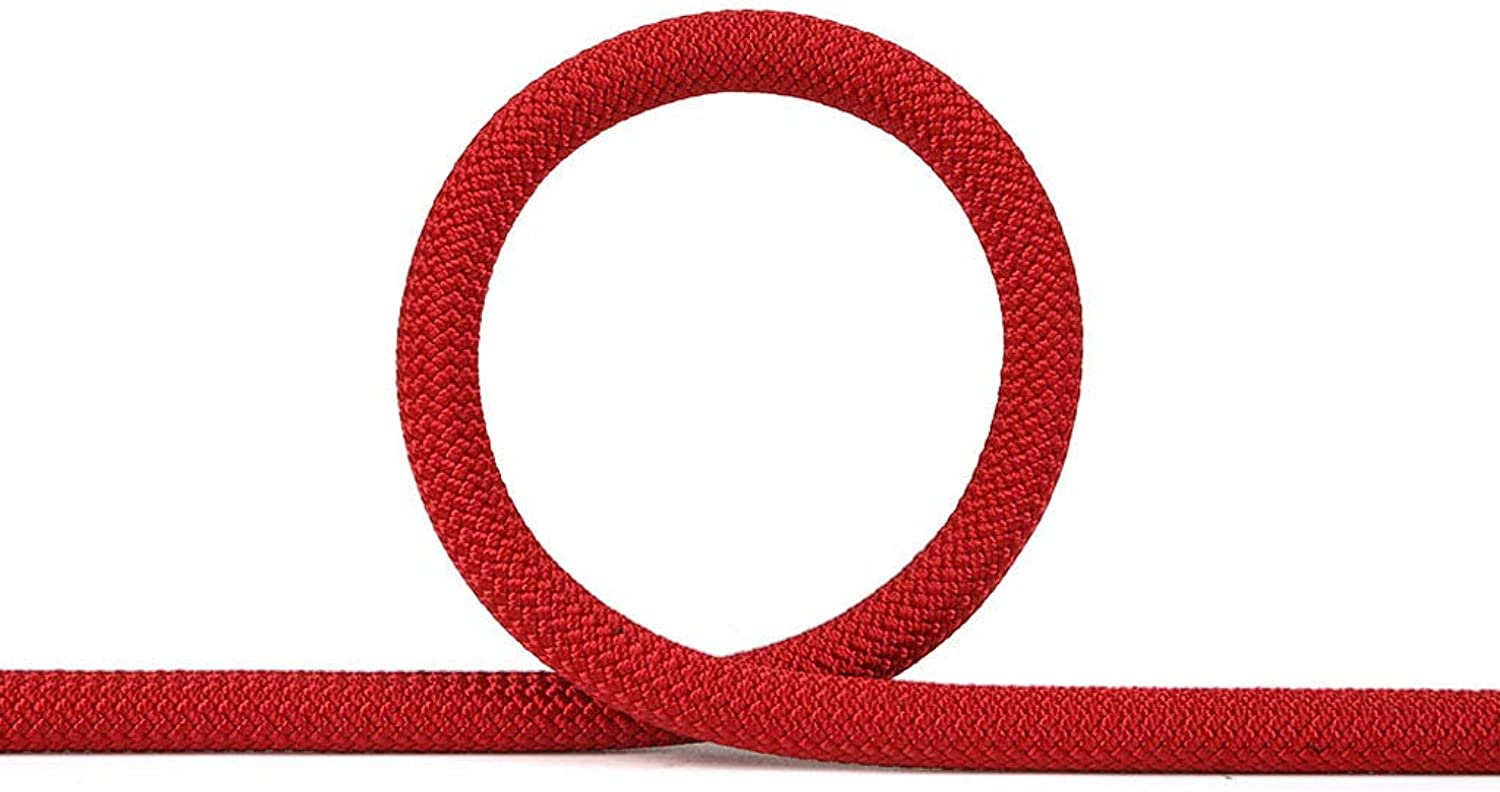 LDFN, Rock Climbing Rope, Outdoor, Power Rope, Safety, High-Altitude Anti-Fall, Safety Rope Equipment,Red-30m