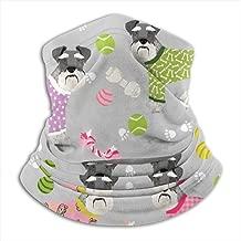 Schnauzers In Jammies Cute Dogs Pajamas Pyjamas Grey Neck Gaiter, Headwear, Face Sun Mask, Magic Scarf, Bandana, Balaclava, Headband for Fishing, Motorcycling, Running, Skateboarding, Moisture Wickin