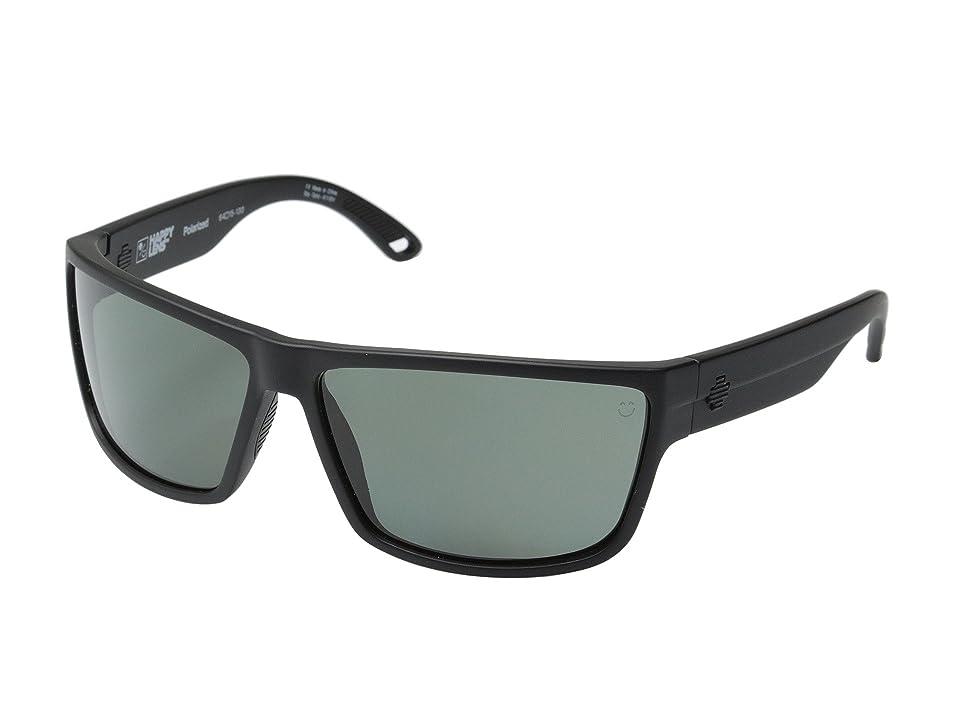 Spy Optic Rocky (Matte Black/Happy Gray Green Polar) Fashion Sunglasses