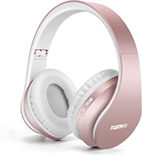 Bluetooth Headphones,TUINYO Wireless Headphones Over Ear with Microphone, Foldable & Lightweight Stereo Wireless Headset f...