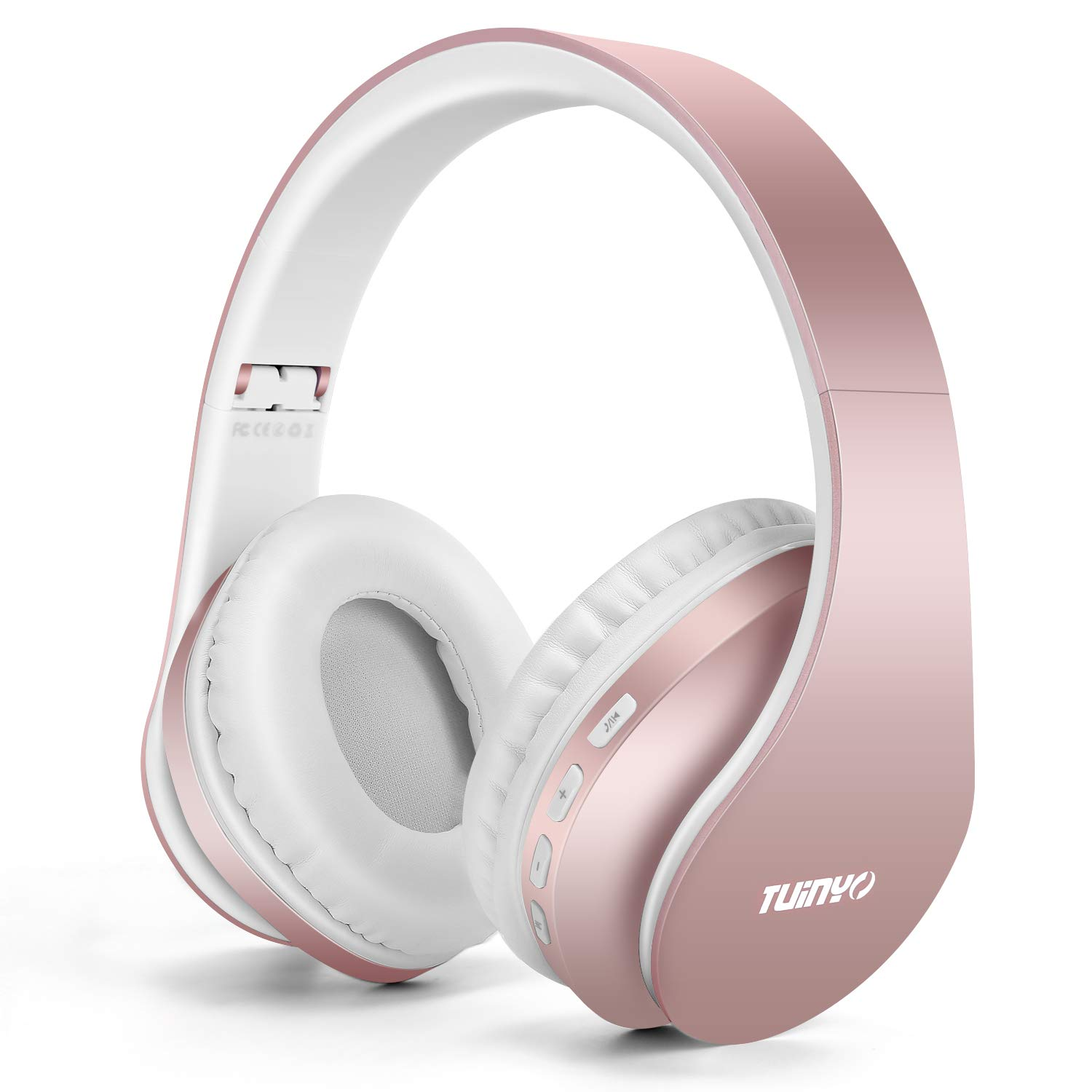 Bluetooth Headphones Tuinyo Wireless Headphones Over Ear With Microphone Foldable Lightweight Stereo Wireless Headset For Travel Work Tv Pc Cellphone Rose Gold Buy Online In India Missing Category Value Products