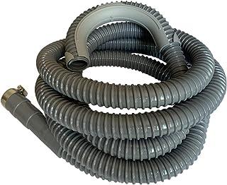 12 Ft - Universal Washing Machine Drain Discharge Hose, Zulu Supply, Heavy Duty Corrugated Rubber, Universal Size, Fits Mo...