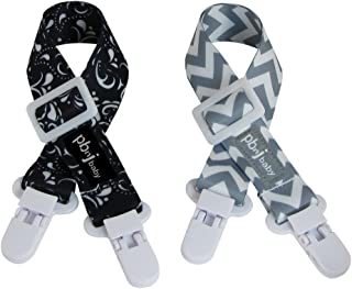 PBnJ baby Clip-itz Nursing Cover Clips (Gray Chevron & Black Paisley)