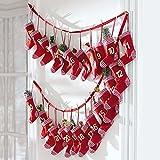 Adventskalender Red Sock Socken zum selbst Befüllen Kalender