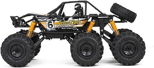 Zzsc Aufladung von Sechs R rn Fernsteuerungsauto 6WD Hochgeschwindigkeits-RC-Rennauto Elektro 2,4 GHz-Kletterer-LKW 45 ° Kletter-Stunt-fürzeugmodell 1  8 Ofüroad-Kletterer Schneller Rennwagen