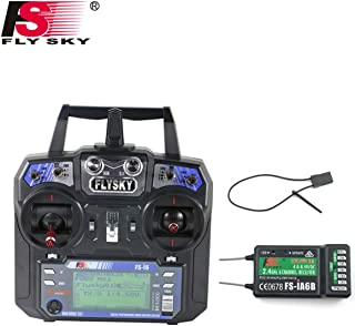 Flysky FS-i6 6CH 2.4GHz AFHDS RC Transmitter w/FS-iA6B Receiver for RC Multirotor Helicopter Airplane Glider Quadcopter (M...