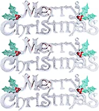 3 Pcs Xmas Ornament Handmade Baubles Indoor Hanging Decor Christmas Tree Decoration Silver