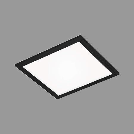 Briloner Leuchten - Panneau LED, plafonnier LED, lampe de plafond, spot de plafond, 12 watts, 1.300 lumens, 4.000 Kelvin, blanc - noir, 295x295x55mm (Lxlxh) 7191-015