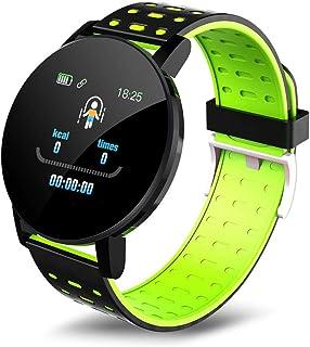 Smart Watch para mujer y hombre, deportivo, con pantalla táctil de alta definición, IP67, resistente al agua, fitness, multideporte verde ·