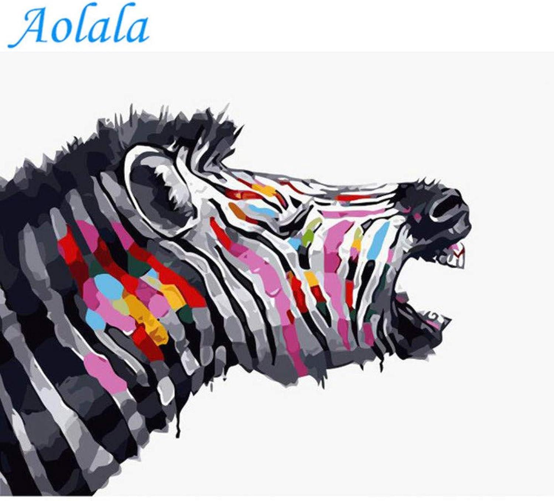 Aolala Frameless Zebra DIY DIY DIY Malen nach Zahlen Tiere Malen Kalligraphie Acrylfarbe nach Zahlen für Hauptdekore,60X75cm B07MMB88VV | Ausgezeichnetes Preis  0907a4