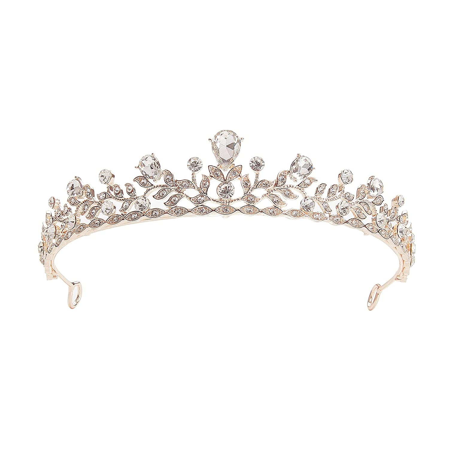 SH Rose Gold Max 60% OFF Wedding Tiara for and Super Special SALE held Princess Girls Crowns Women