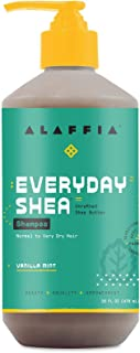 Alaffia EveryDay Shea Shampoo, Vanilla Mint, 16 Oz. Gently Cleansing Shampoo for Normal to Dry Hair. Made with Fair Trade ...