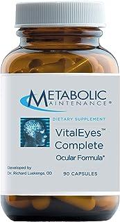 Metabolic Maintenance Vital Eyes Complete - Eye Health Support Supplement with B Vitamins, Antioxidants - Lutein, Bilberry...