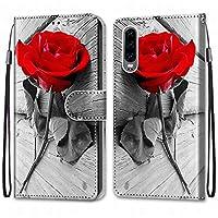 Laybomo Huawei P30 ケース カバー 手帳型, [カードスロット]および[キックスタンド]付きの磁気閉鎖完全保護設計ウォレットフリップ 財布型カバー対応 Huawei P30電話ケース, 塗る 4