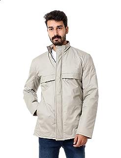 Andora Basic Flap Chest Pocket Long Sleeves Zip-Up Bomber Jacket for Men